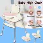 Baby High Chair 3-In-1 Elevated Seat Foldable Sturdy Adjustable Feedin