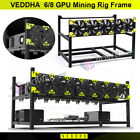 6/8 GPU Aluminum Stackable Open Air Mining Computer Frame Rig Ethereum Veddha