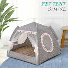 Pet Dog Soft Bed House Detachable House Nest Tent with Cushion Sleeping Pad