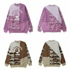 A BATHING APE WOMENS DESERT CAMO PANEL OVERSIZED CREWNECK 2 Colors New  Arrival
