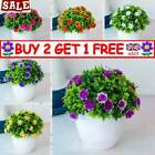 Artificial Potted Flowers Fake False Plants Outdoor Garden Home In Pot Decor Ruk