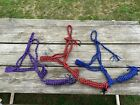 Mule tape horse rope halter & lead  braided nylon cord assorted colors