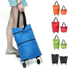 Fashion Foldable Shopping Bag Trolley Oxford Cart On Wheels Reusable Handbag Bag