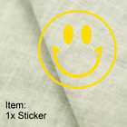 Smiley Face Sticker Happy Cute Face Decal For Car Window Mirror Laptop