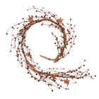 Factory Direct Craft Decorative Mixed Burgundy Berry and Rusty Stars Garlan
