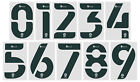 2020 2021 OFFICIAL FOOTBALL LEAGUE DARK GREEN NUMBERS 230mm = PLAYER SIZEEnglish Clubs - 106485