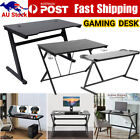 6 Model Gaming Desk Home Office Metal Game Racer Computer Pc Table Black New