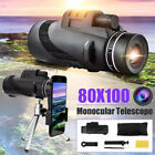 HD 80X100 Optical Zoom Clip on Camera Lens Phone Telescope Universal Cell Phone