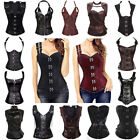 Внешний вид - Steampunk Overbust Corset Gothic Lace up Boned Waist Bustier Top Gothic Basques