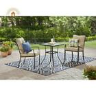 3 Pcs Cushioned Bistro Set Outdoor Patio Furniture Home Garden Deck Yard Colors