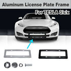 Aluminum Alloy Metal License Plate Frame Shield Professional For Tesla 3/S/X New