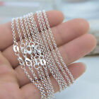 """Bulk 925 Silver """"o"""" Chain Necklace Jewelry Findings For Pendant Charms 16""""-30"""""""