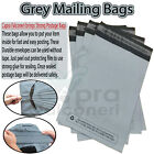 All Sizes Grey Mailing Bags Strong Self Seal Parcel Postage Plastic Post Poly