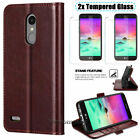 For LG K20 Plus / K20 V / K10 2017 Leather Wallet Credit Card Flip Case Cover