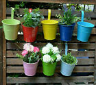 10 Color Metal Iron Flower Pot Hanging Bucket Balcony Garden Planter Home Decor