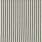 Carolina Linens Tailored Tier Curtains in Farmhouse Black Ticking Stripe