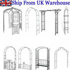 Garden Arch Gate Decorative Pergola Metal Rose Archway Arched Plant Climbing UK