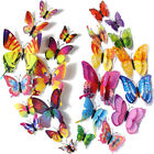 12pcs 3d Magnetic Colorful Butterfly Wall Stickers Art Decor Home Decoration Diy