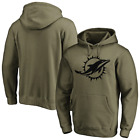 Miami Dolphins Men's Hoodie NFL Iconic Preferred Logo Graphic Hoodie - New