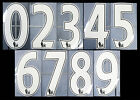 2007 2013 SPORTING ID LEXTRA PREMIER LEAGUE WHITE NUMBERS 260mm = PLAYER SIZEEnglish Clubs - 106485