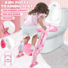 Kids Toddler Potty Training Seat With Step Stool Baby Toilet Ladder Chair Q