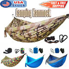 2 Person Double Camping Hammock Swing Hanging Bed Chair for Patio Travel Garden