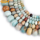 Natural Amazonite Rondelle Stone Spacer Jewelry Making Beads 15'' Mulit Color