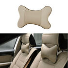 1PC Car Auto Seat Head Neck Rest Leather Cushion Pad Headrest Bone Pillow Gift