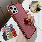 For iPhone 12 Pro Max 11 Xs Xr 8 7 Plus Bling Glitter Case Hybrid TPU Ring Cover
