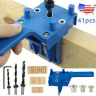 41PCS Jig Drill Doweling Guide Set Dowel Hole Drilling Woodworking Hand Tool Kit