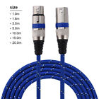 3 Pin XLR Microphone Cable Male To Female Balanced Patch Lead Mic...