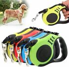 5m Automatic Dog Leash Retractable Nylon Lead Puppy Walking Running Leads