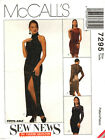 McCalls 7295 Misses Lined Evening Dress Sewing Pattern Uncut 8 10 12