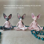 Hairless Cat Meditating Resin Crafts Ornaments Home Garden Ornaments