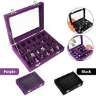 24 Removable Jewelry Box Necklace Ring Earring Organizer Displaying Case Velvet