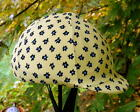 helmet cover - light yellow w small flowers  MEDIUM