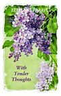 Vintage Lilacs With Tender Thoughts Applique Multi Szs