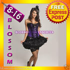 1733 Burlesque Moulin Rouge Corset Costume 8 10 12 1416