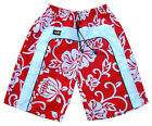 Mens Red Surf Designer Trunks Flower Skate Swim Board Sport Long Swimming Shorts