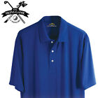 Mens UV Moisture Wicking Box Jacquard Golf Polo Shirt