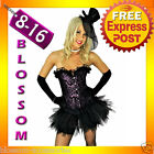 8132 Burlesque Purple Corset Tutu 8 10 12 14 16