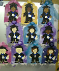 Girls Graduation Congratulations Gift Tag Blue  Sash