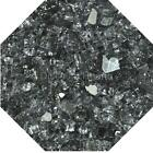 "Grey Reflective 1/4"" Fireglass Fire Glass Fire Pit Fireplace Glass Crystals"