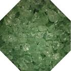 "3/4"" Lime Green Fire Glass Fireglass Fire Pit Fireplace Glass Crystals Gas Logs"
