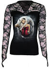 Spiral Direct Angel Of Death Sorrow Moon V-Neck Lace Long Sleeved Tshirt Top