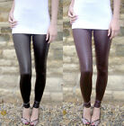 Petite Length Leggings WET LOOK Black