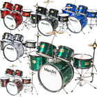 Mendini 5 pcs Child Junior Drum Set +Cymbal+Throne ~Black Blue Red Green Silver фото