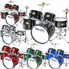 Mendini 5 pcs Child Junior Drum Set +Cymbal+Throne Black Blue Red Green Silver