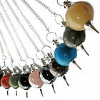 Genuine Gemstone Ball Dowsing Pendulum Crystal Sphere Scrying Variety of Dowsers