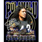 PITTSBURGH TROY POLAMALU PLAYER LICENED YOUTH SIZED T SHIRT